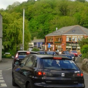 Traffic congestion caused by an event in the Gorge