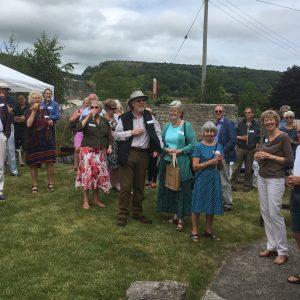 Volunteer guests at Cheddar garden party